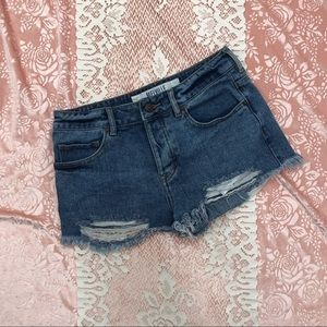 Brandy Melville 27 High Waisted Distressed Shorts